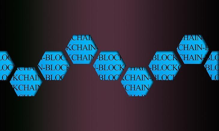 Blokklánc sematikus rajza (Fotó: Pixabay.com)
