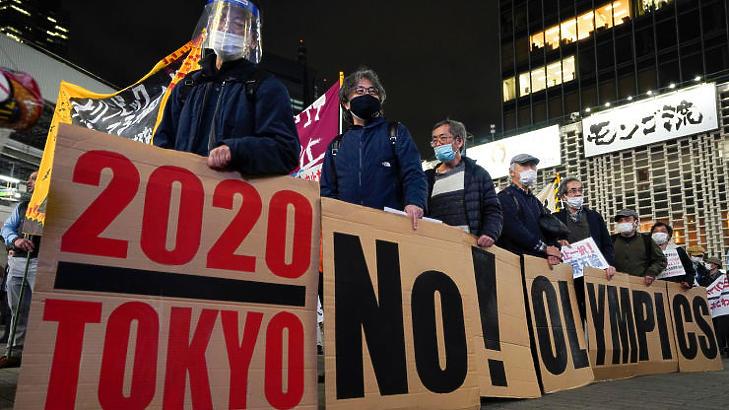 Sok japán tiltakozott az olimpia ellen (Fotó: MTI/EPA/Majama Kimimasza)