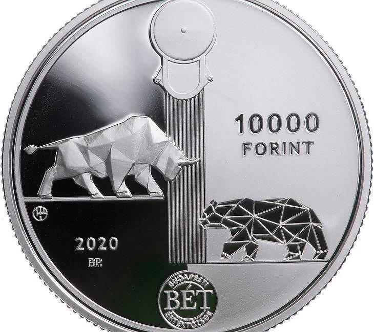 Bika, medve, forint (fotó: BÉT, MNB)