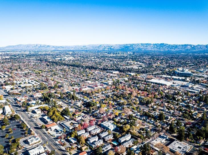 Légifelvétel a Szilícium-völgyről. Forrás: depositphotos.com