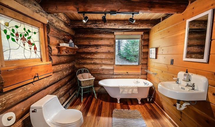 Szinte minden fából van ebben a fürdőszobában (Pixabay.com)