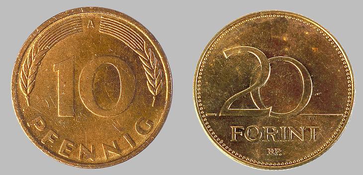 Forint és pfennig (Pixabay.com)