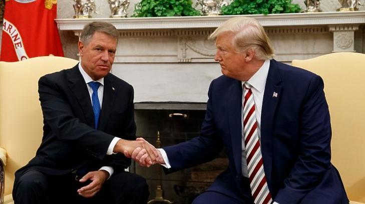 Donald Trump és Klaus Iohannis a Fehér Házban, 2019. augusztus 20-án. (Fotó: AP)