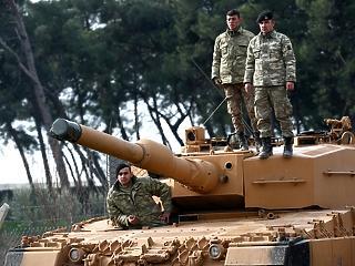 Megindultak a török tankok: bevonult a hadsereg Szíriába