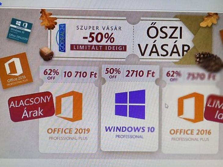 Windows 10 csak 2700 forintért limitált ideig – Csapj le rá most!