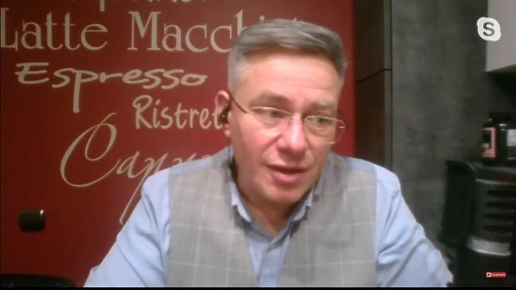 Szabad Zoltán, a Magyar Orvosok Szakszervezetének elnöke. Fotó: youtube