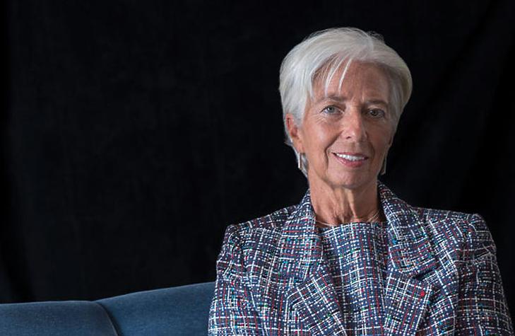Christine Lagarde, az EKB elnöke - újabb jó híreket vár tőle a piac (Fotó: imf.com)