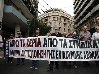 Országos sztrájk van ma Görögországban