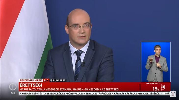 Maruzsa Zoltán köznevelésért felelős államtitkár (Forrás: M1)