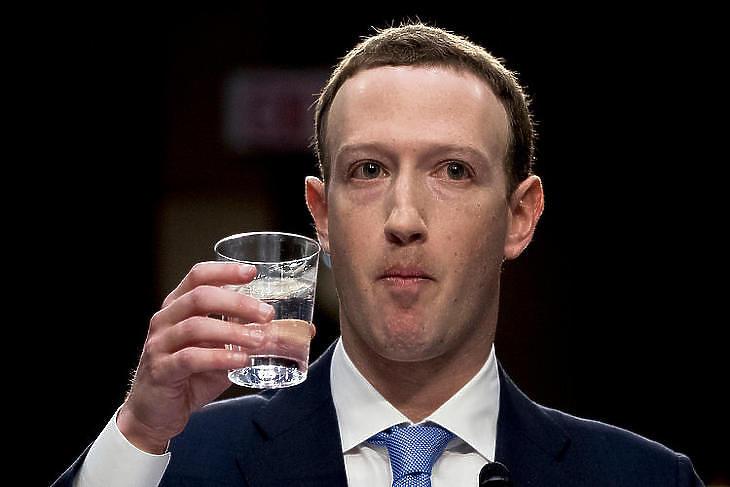 Mark Zuckerberg, a Facebook alapítő-vezére a bizottsági meghallgatáson