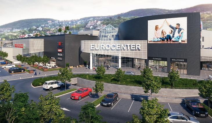 Az Eurocenter felújítás utáni látványterve (forrás: WING)