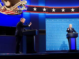 Káosz és folyamatos sértegetés - így vitatkoztak az amerikai elnökjelöltek