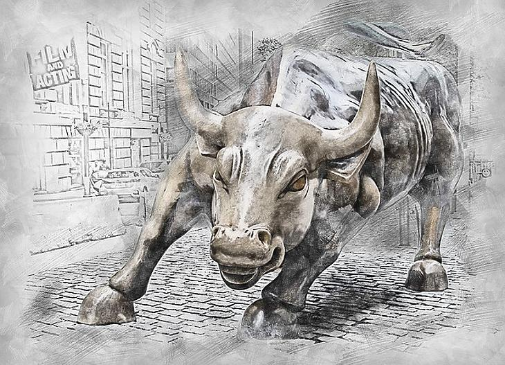 Bika a Wall Streeten (Pixabay.com)