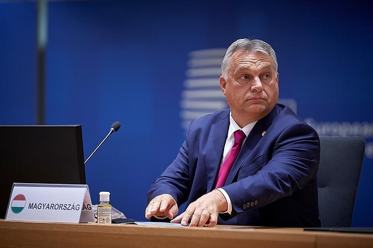 Orbán Viktor az EU-csúcson 2020. október elsején. (Fotó: Európai Tanács)
