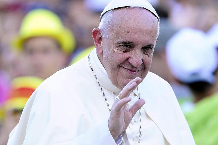 Ferenc pápa (Fotó: MTI)