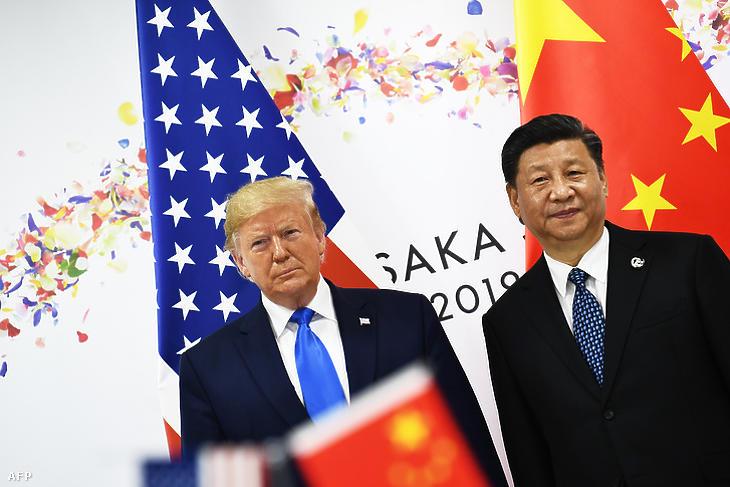 Donald Trump és Hszi Csin-ping az oszakai G20 találkozón 2019. június 29-én. (Fotó: Brendan Smialowski / AFP)