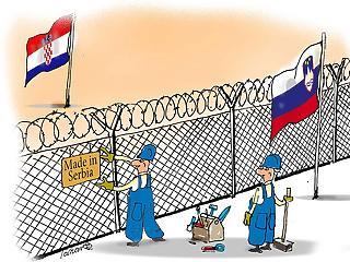 Balkáni abszurd: szerbek építenek kerítést a horvátok és a szlovénok közé