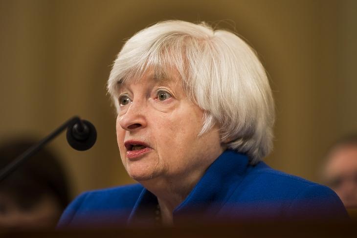Janet Yellen 2017-ben, még Fed-elnökként. Pénzügyminiszterként térhet vissza. Fotó: EPA / Jim Lo Scalzo