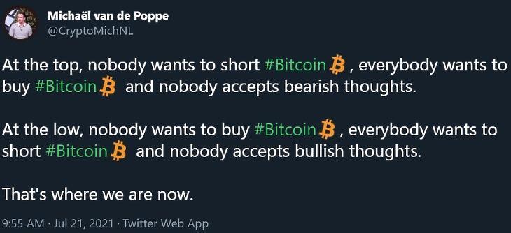 Michaël van de Poppe egyik Twitter-üzenete