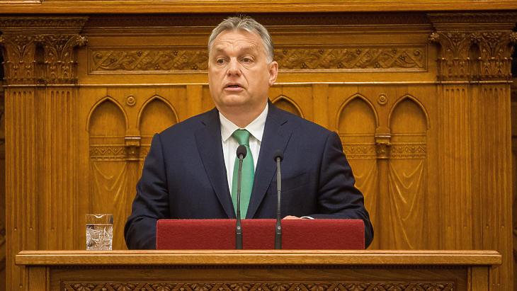 Orbán Viktor napirend előtt beszélt a döntésekről (Fotó: MTI)
