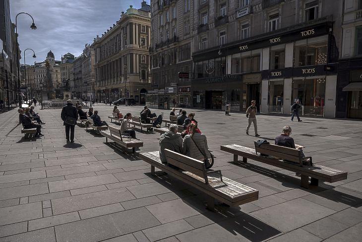 A Graben Bécs belvárosában. EPA/CHRISTIAN BRUNA