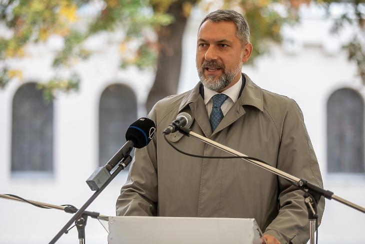 Lázár János egy átadáson 2020. októberében. Fotó: MTI/Rosta Tibor