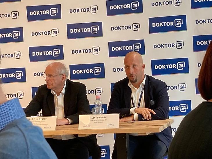 Béres György, a Doktor 24 Multiklinika szakmai vezetője és Lancz Róbert vezérigazgató. Fotó: Privátbankár