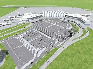 Óriási parkolóházat építenek Ferihegyen