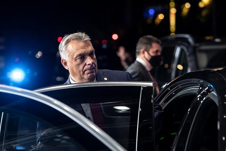 Rázós futam: Orbán Viktor Brüsszelben az EU-csúcson 2020 októberében.  (Forrás: Európai Tanács)