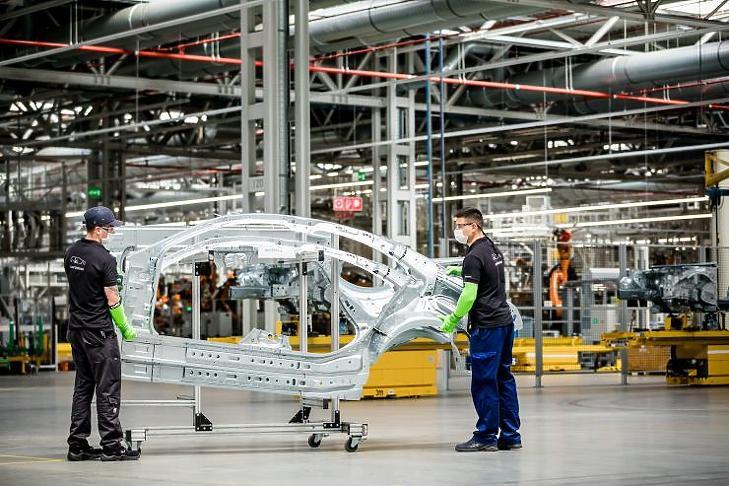 A kecskeméti Mercedes-gyár bővítésén is dolgozott a BIM Design (forrás: Mercedes-Benz)