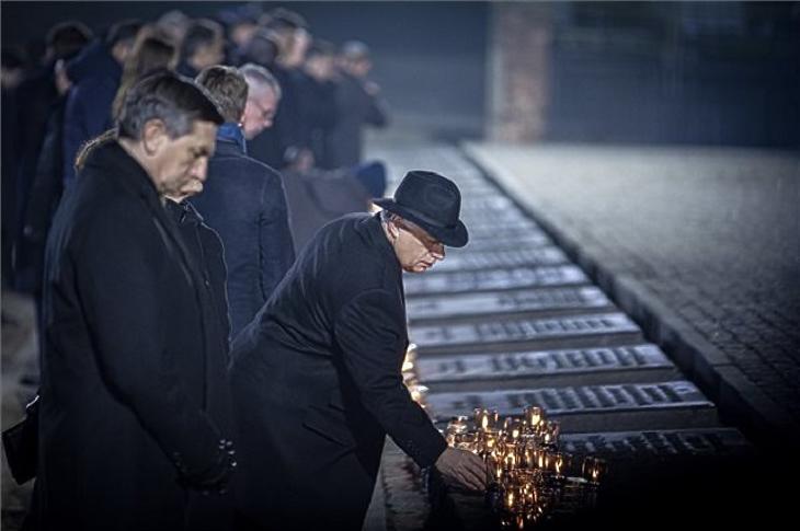 A túlélők voltak a fő vendégek a 75. évfordulós auschwitzi megemlékezésen