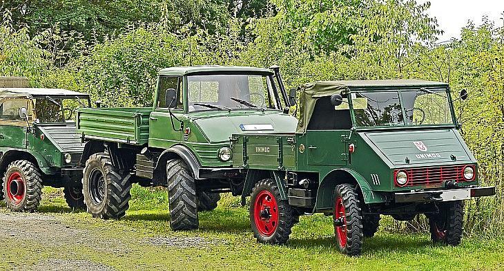 Múzeumi Daimler Unimog járművek a múlt század közepéről (Pixabay.com)