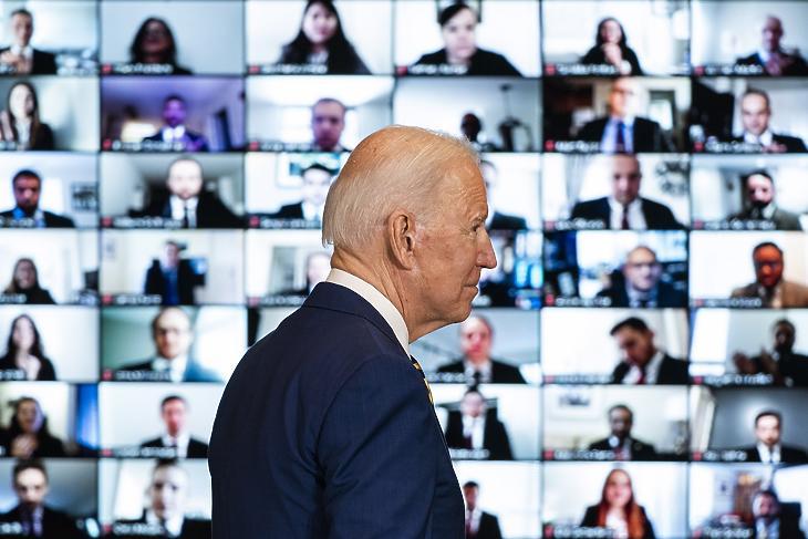 Biden Moszkva és Peking közeledésétől félhet (Fotó: MTI/EPA/Jim Lo Scalzo)