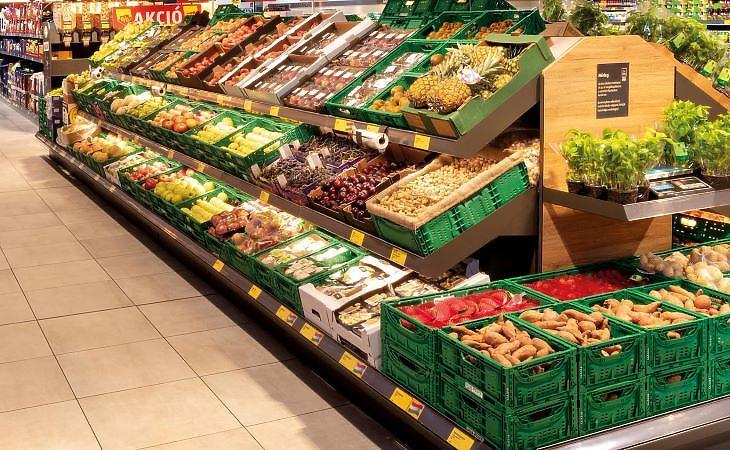 Sztenderd Aldi-áruház belülről (fotó: Aldi)