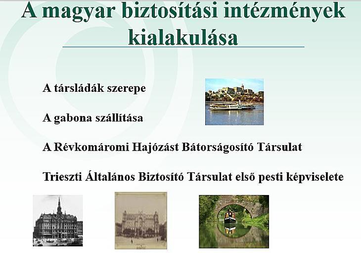 A magyar biztosítási intézmények kialakulása (Mabisz)