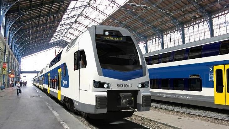 Emeletes vonatban is utaznak - fotó: Stadler